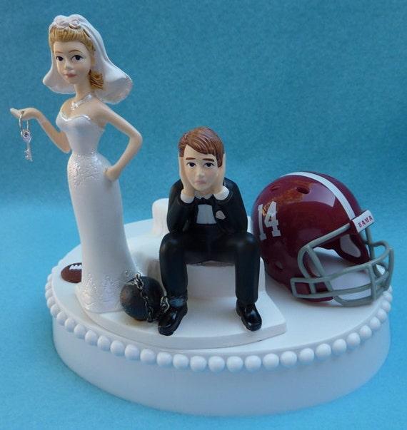 Wedding Cake Topper University Of Alabama Crimson Tide Roll
