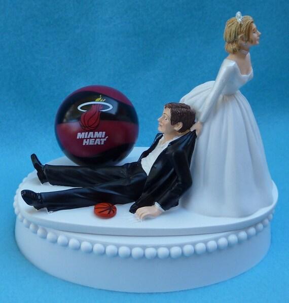 wedding cake topper miami heat basketball themed w bridal. Black Bedroom Furniture Sets. Home Design Ideas