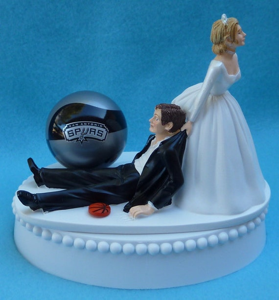 wedding cake toppers in houston tx wedding cake topper san antonio spurs sa basketball themed w 26508