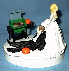 chef groom wedding cake topper wedding cake topper bbq barbecue grilling themed w bridal 12632