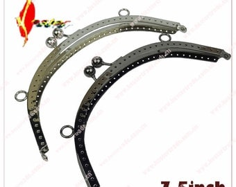 7 1/2inch  5pcs  two color   Sewing Metal purse frame  clutch with pattern wholesale ks-pf-bzg-07  KS-61