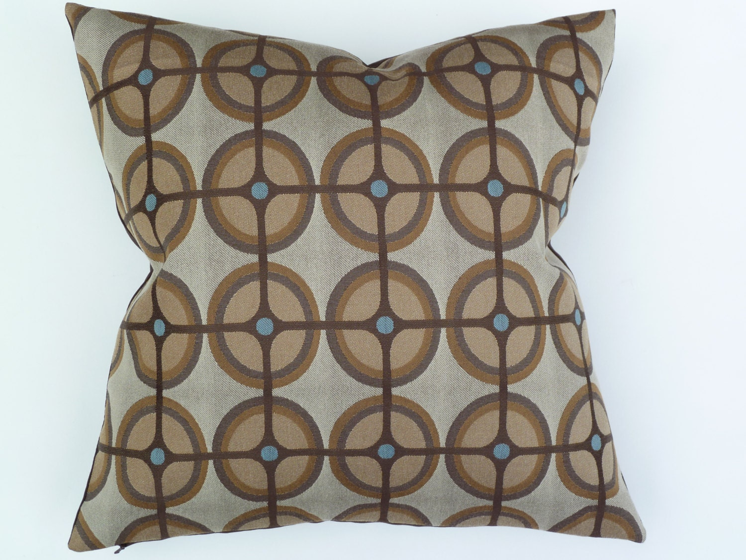 Mid Century Style Throw Pillows : Mid Century Modern style Accent Pillow 17 x 17
