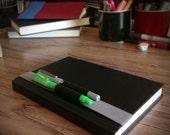 8-9 inch (20-23cm) sketchbook or journal pen and pencil holder