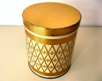 German Vintage Coffee Canister - Tin box from sixties