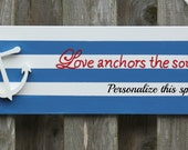Wooden anchor sign that can be personalized