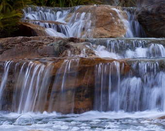 Silky Smooth Waterfalls Fountain Fine Art Photography Poster as a Gift For The Home or Office