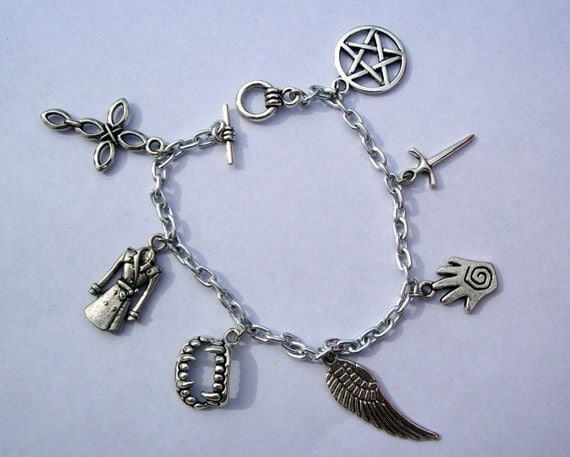 castiel supernatural charm bracelet stainless steel by