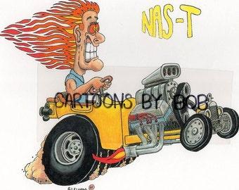 "Nas-T -- Cartoon Art Print 8"" x 10"""