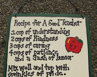 Teacher Gifts 5111 Wood Recipe for Good Teacher