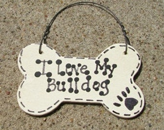 29-2083 I Love My Bulldog or We Love or Bulldog