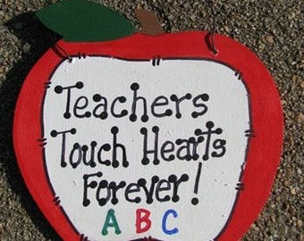 Teachers Gifts - 9171F   Teachers Touch Hearts Forever