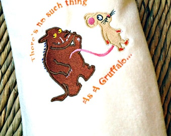 The Gruffalo and Mouse baby cot blanket