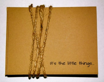 Set of 10 Kraft Paper Inspirational Quote Cards : It's the Little Things