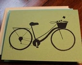 Spring & Summer Themed Dutch Bike Note Cards - 8 Pack