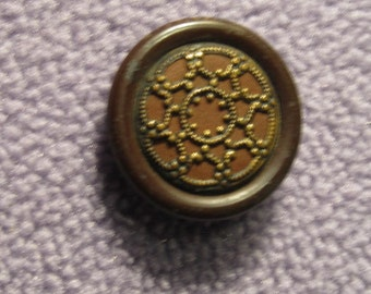Reduced price  victorian celluloid button