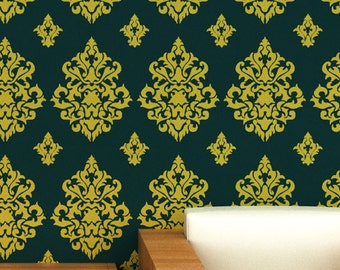 Large Wall stencil ideas,reusable damask Stencils - 06 - stencils for wall painting