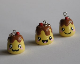 Cute Polymer Clay Pudding Charm