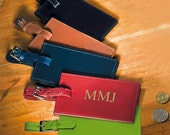 Personalized Leather Luggage Tags -  A personalized gift for him or her - Bon Voyage - Great for your Travel Luggage needs