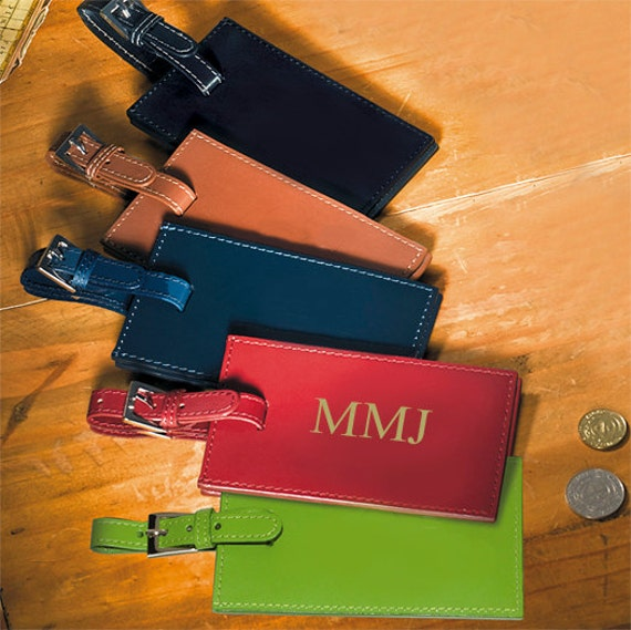 Personalized Luggage Tags Wedding Gift: Personalized Leather Luggage Tags A Personalized Gift For