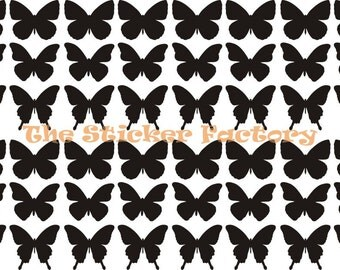 48 1 inch Butterfly Vinyl Decal Wall Art Decor Stickers