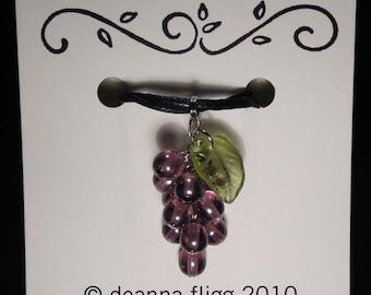 Grape Cluster Necklace - Purple