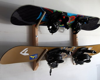2 Snowboard Storage Wall Rack