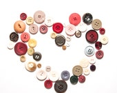 Set of 50 classic vintage buttons -  mixed colors and sizes - GiftsFromPortugal