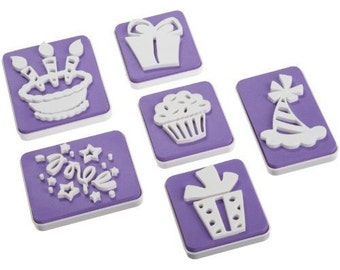 "Wilton ""Birthday"" cake stamp set"