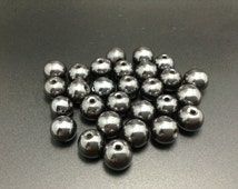 50 pcs 10 mm hematite beads shamballa beads craft supplies wholesale beads