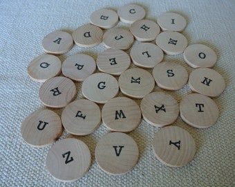 Montessori Moveable Alphabet Uppercase Letters Educational Gift