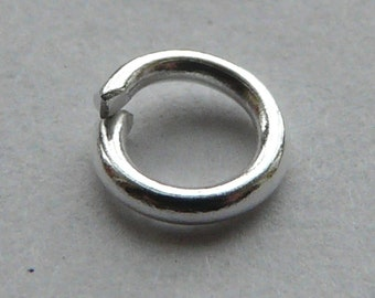 200 x 5mm Silver Plated Jump Rings