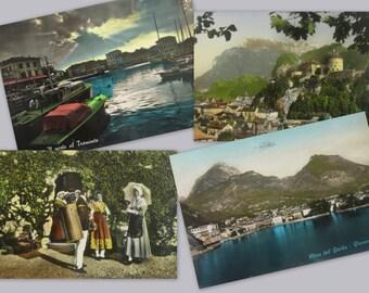 50s. 4 postcards EUROPE. Vintage