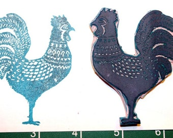Morning Rooster Stamp