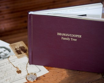 Personalized Family History Book