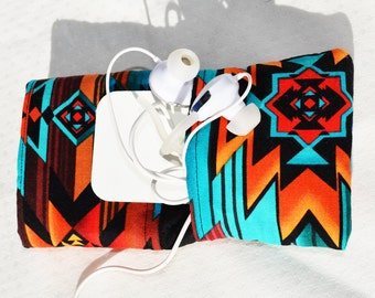 Southwest navajo IPhone sleeve case pouch for any phone custom made I Phone Nexus Samsung Galaxy HTC Droid Motorola Nokia