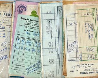 Vintage spanish office supplies - 10 Scrapbook vintage ledger