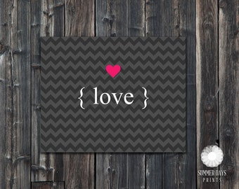 INSTANT Download - 8 x 10 love print