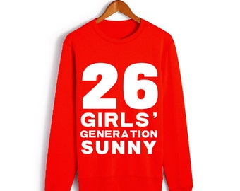 Girls' Generation snsd Red Sunny NO.26 Long-sleeved T-shirt S-2XL (Ds2)
