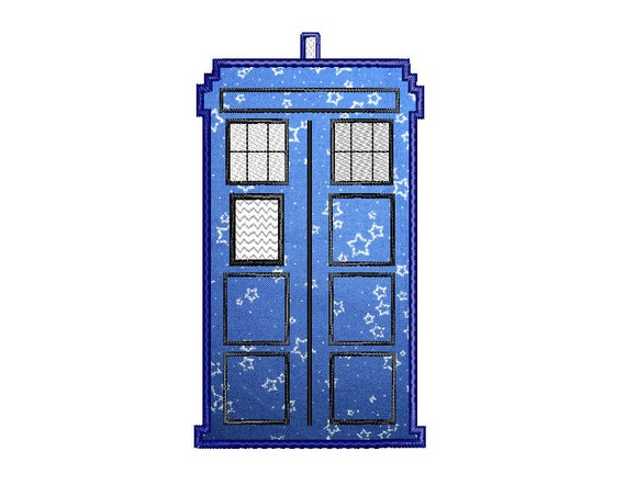 Buy3get1 Free Machine Embroidery Tardis Doctor Who