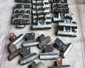 1930's metal perm clips. As found. Use for art projects