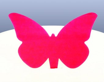 Coloured Acrylic Butterfly Cake Toppers - 6.5cm / 2.5 - 5 Colours