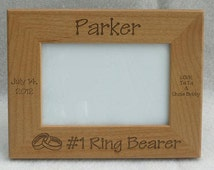 Laser Engraved Personalized Ring Bearer Picture Frame 4 x 6, 5 x 7