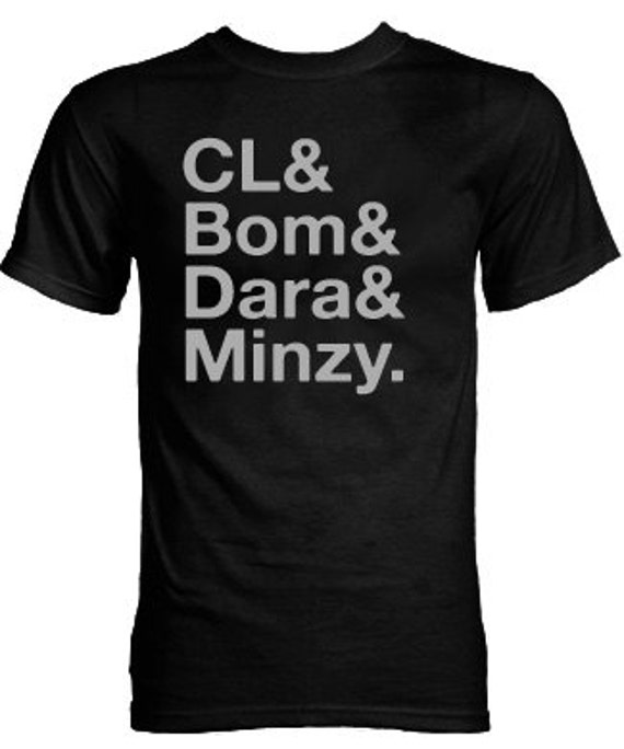 2NE1 CL and Bom and Dara and Minzy Group K-pop T-Shirt