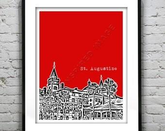 St. Augustine Florida Poster Print Art