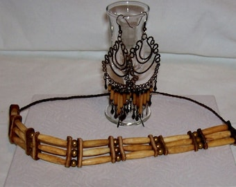 Vintage Indian Choker with Earrings