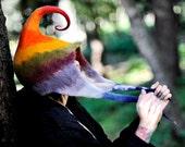 Unique handmade felt hats, colorful hat, rainbow colors, fantastic hat
