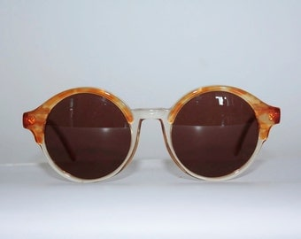 Vintage Sunglasses  Les Copains mod. 13 col. 231 Round Hippie Original Made in Italy
