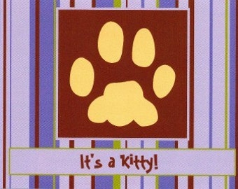 """Kitty Cat Announcement Cards """"It's A Kitty"""""""