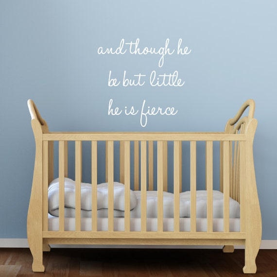 Wall Decal Quotes For Baby Nursery : Nursery wall decals quote fabric