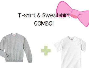 Monogram Tshirt & Sweatshirt Combo